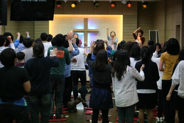 청소년 예배 사진